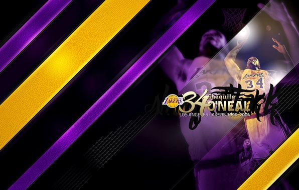 Картинка Спорт, Баскетбол, Los Angeles, NBA, Lakers, Shaquille O'Neal, Шакил О'Нил