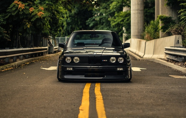 Картинка BMW, Black, Coupe, E30