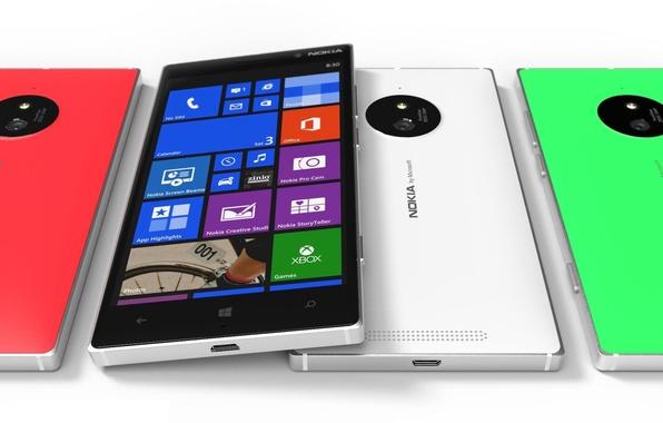 Картинка Concept, Red, Green, White, Tesla, Nokia, Lumia, Smartphone, 830, Front Side, Windows Phone 8.1