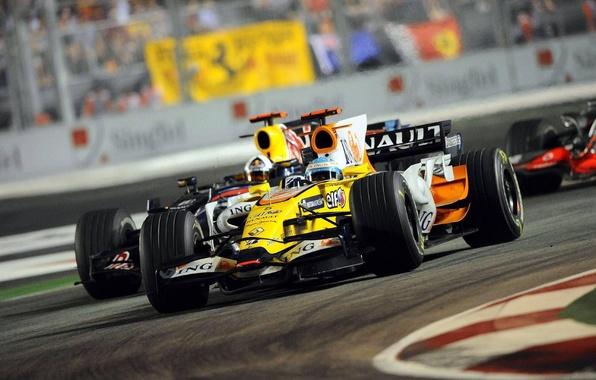 Обои Renault F1 Болид Французы Рено формула 1 для