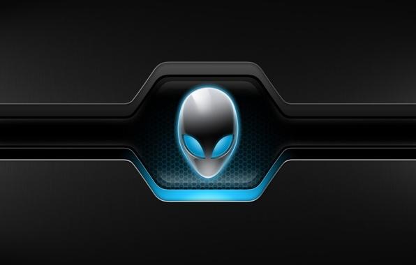 Картинка глаза, фон, пришелец, форма, AlienWare