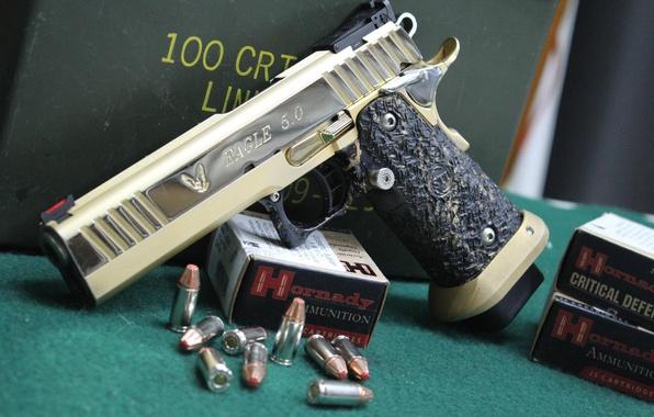 Картинка пистолет, Eagle, патроны, STI 1911, полуавтоматический