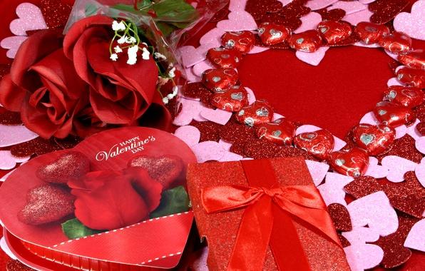 Картинка романтика, розы, сердечки, love, rose, heart, romantic, Valentine's Day