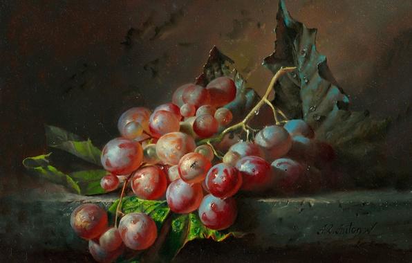 Картинка природа, виноград, живопись, искусство, Алексей Антонов