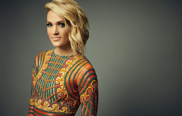 Картинка музыка, фон, макияж, прическа, блондинка, наряд, певица, Carrie Underwood, фотосессия, кантри, Кэрри Андервуд, Robby Klein, ...