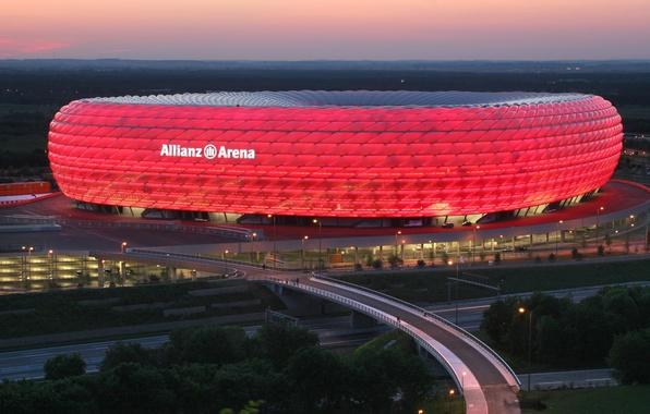 Картинка Германия, Мюнхен, Germany, Munich, stadium, стадион, Allianz Arena, Альянц Арена