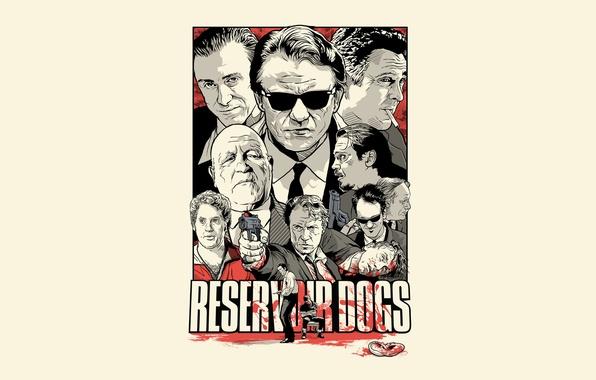 Картинка белый, кровь, триллер, драма, Бешеные псы, Reservoir Dogs, Квентин, Тарантино, культовый