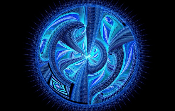 Картинка colors, blue, pattern, circle, fractal