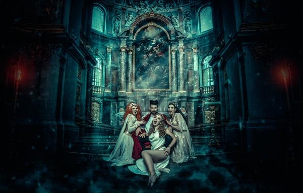 Картинка фантазия, арт, вампиры