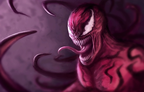 Картинка клыки, art, Marvel Comics, Spider-Man, carnage, Cletus Kasady, паразит