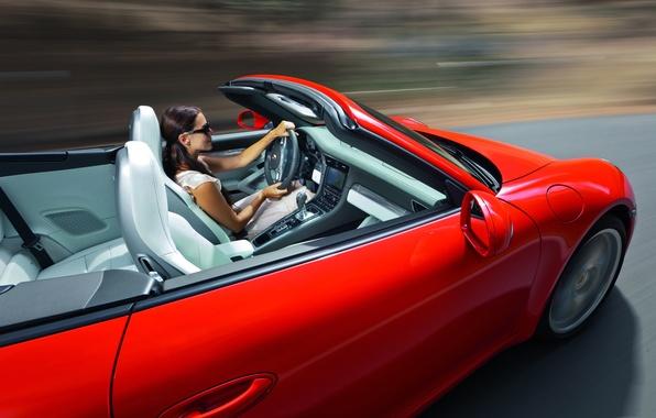 Картинка скорость, Porsche, кабриолет