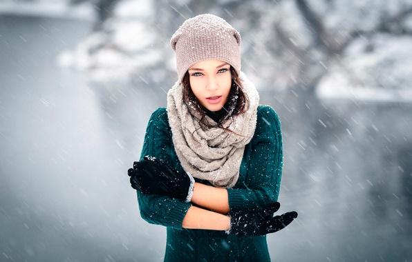 Картинка снег, ветер, перчатки, шапочка, Winter is coming, Ангелина Петрова, Денис Петров
