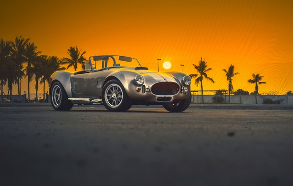 Картинка Shelby, Car, Classic, Amazing, Front, Sunset, Cobra, Old