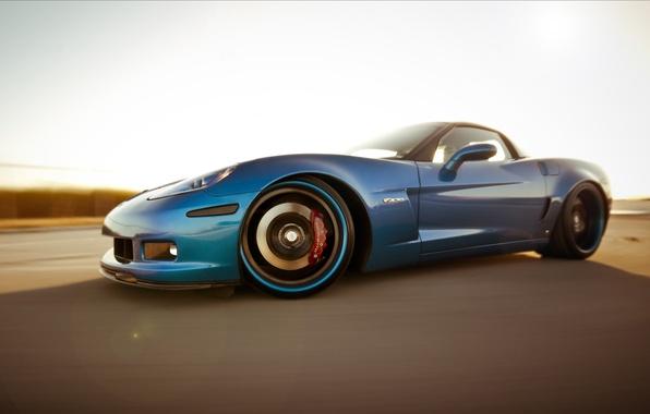 Картинка Z06, corvette, chevrolet, blue