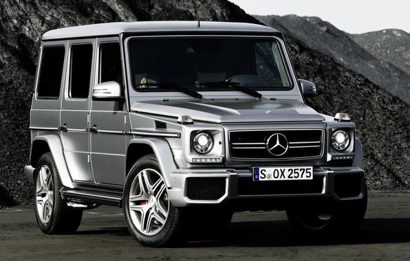 Картинка горы, Mercedes-Benz, джип, внедорожник, мерседес, AMG, передок, гелендваген, Gelandewagen, G63