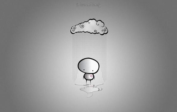Картинка облака, любовь, одиночество, дождь, минимализм, юмор, love, rain, cloud, mood, разбитое сердце, lonely, Minimalism, humor, …