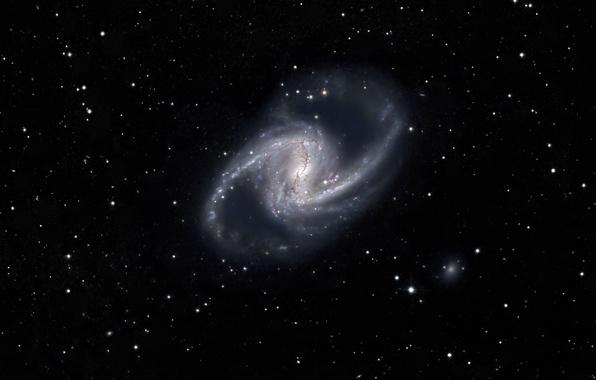 Фото обои Спиральная галактика, Spiral Galaxy, звезды, космос
