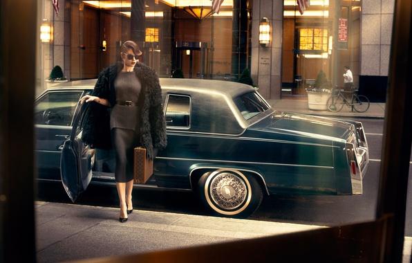 Картинка машина, модель, актриса, Ольга Куриленко, автомобиль