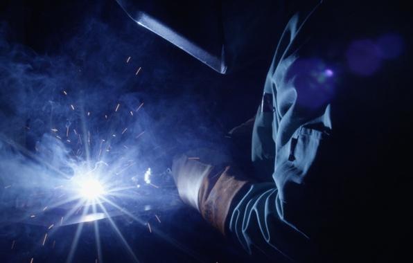 Картинка smoke, welder, welding, worker
