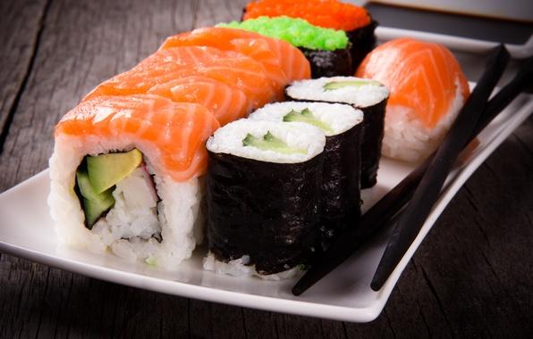 Картинка палочки, rolls, sushi, суши, роллы, японская кухня, sticks, Japanese cuisine