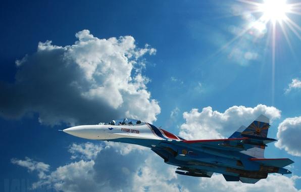 Картинка авиация, самолет, фото, истребитель, Су-27