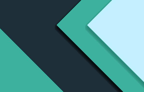 Картинка синий, абстракция, зеленый, текстура, Android, салатовый, материал