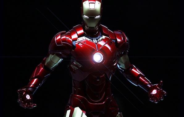 Картинка cinema, golden, power, Iron Man, man, cartoon, Marvel, films, comics, hero, suit, Tony Stark, helmet, …