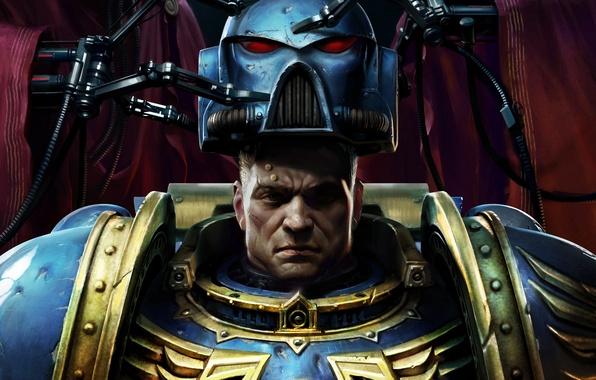 Картинка Шлем, Солдат, Space Marine, Warhammer 40000, Вархаммер