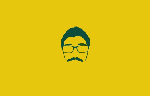 Картинка Минимализм, Усы, Очки, Лицо, Мужчина, Alejandro Giraldo