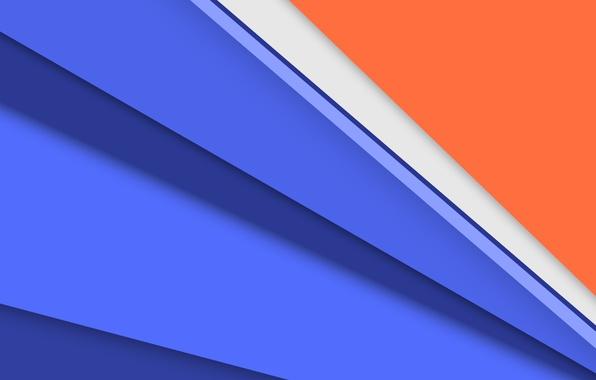 Картинка белый, линии, оранжевый, синий, обои, текстура, Android