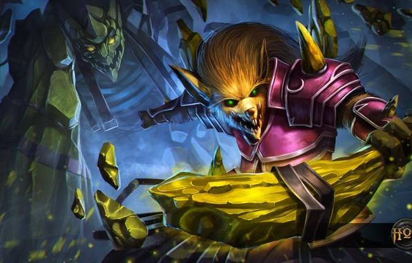 Картинка камень, голем, Heroes of Newerth, moba, Warlock Skrap, Skrap