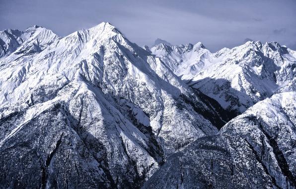 Фото горы зима январь северные