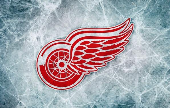 Картинка Лед, Логотип, Detroit, NHL, НХЛ, Хоккей, Red Wings