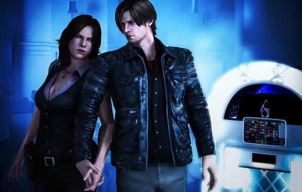 Картинка biohazard, Обитель зла, Resident Evil 6, capcom, Leon Scott Kennedy, Helena Harper, Леон Скотт Кеннеди