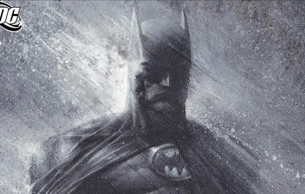 Картинка дождь, batman, рисунок, бэтмен, маска, комикс
