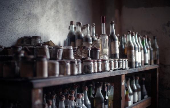 Картинка фон, бутылки, банки