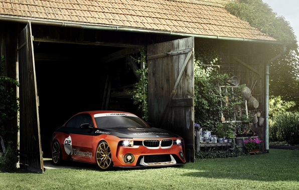 Картинка Concept, BMW, Тюнинг, Оранжевый, Автомобиль, 2002, Hommage, 2016
