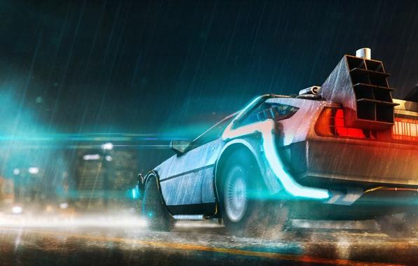 Картинка авто, dmc, назад в будущее, Back to the Future, delorean