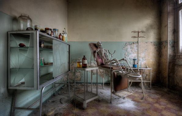 Картинка скелет, кабинет, медицина