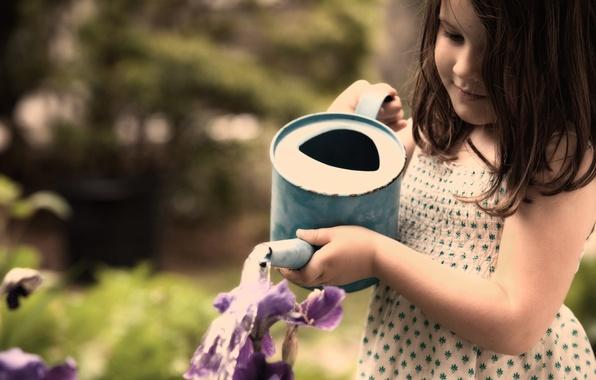 Картинка лето, вода, девушка, радость, счастье, свежесть, дети, девушки, настроение, девочки, платье, девочка, малыши, ребёнок, детишки, …