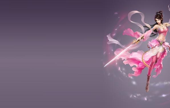 Картинка девушка, фентези, оружие, игра, меч, воин, арт