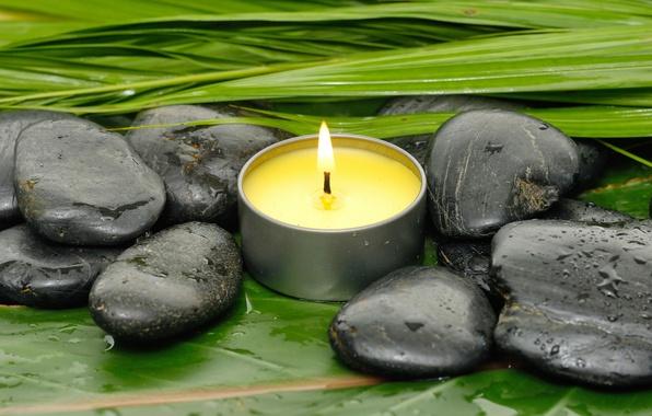 Картинка камни, relax, спа, still life, candles, spa, wellness