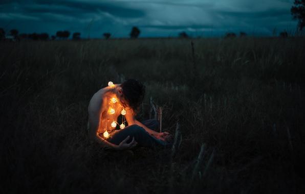 Картинка lights, storm, man, darkness