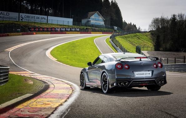 Картинка трасса, Nissan, GT-R, автомобиль, ниссан, задок