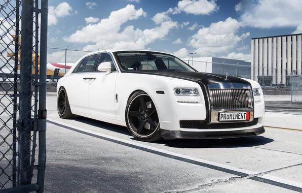 Картинка тюнинг, white, Rolls Royce, Ghost, tuning