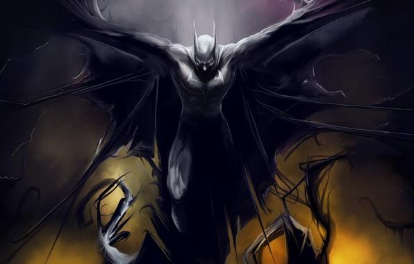 Картинка batman, Бэтмен, темный рыцарь
