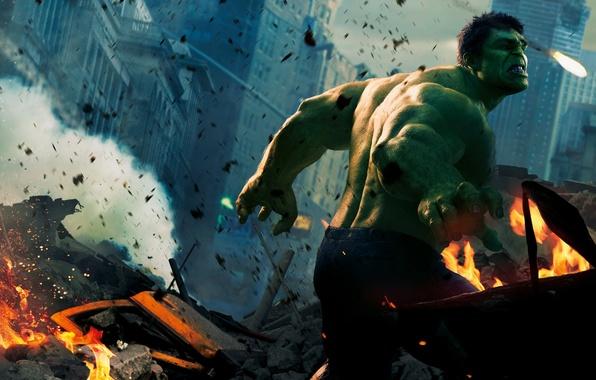 Картинка Халк, Hulk, Зелёный, Мстители
