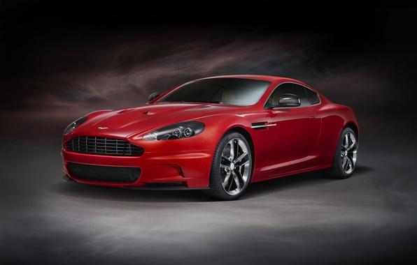 Картинка Aston Martin, DBS, красная, Vanquish