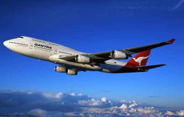 Картинка Лайнер, Boeing, Боинг, The, 747, Qantas, Australian, Авиалинии, Airlines, Австралийские