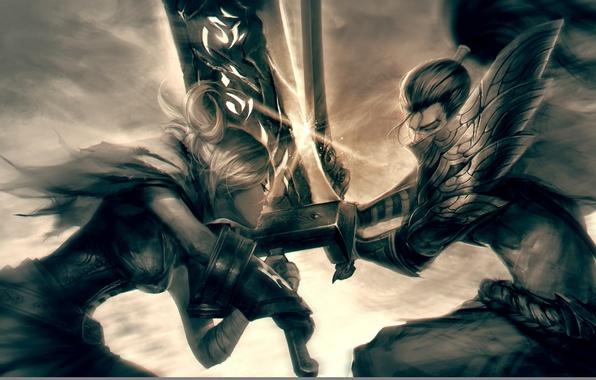 Картинка League of Legends, Riven, Yasuo, the Unforgiven, the Exile